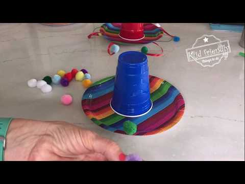 How to Make a Paper Plate Sombrero | Kid Friendly Things To Do