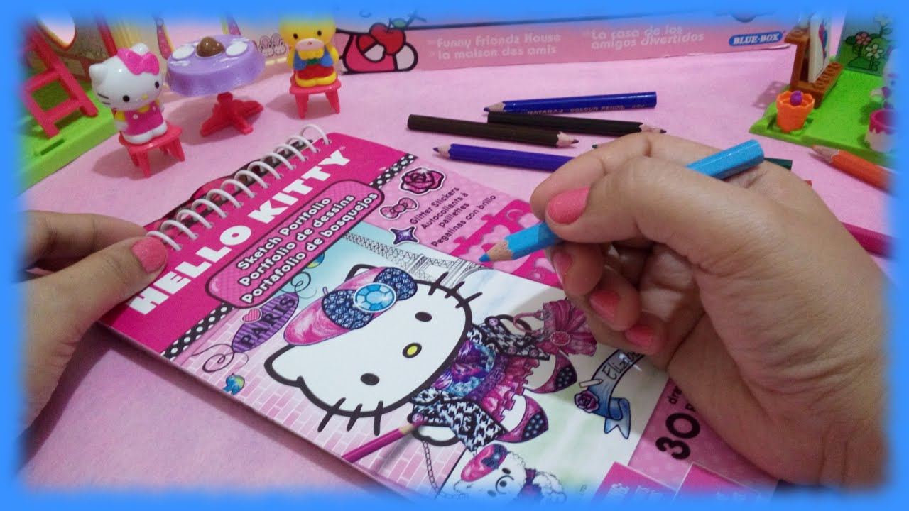 coloring pages from hello kitty sketch portfolio coloring book toys world video