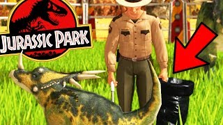 JURASSIC PARK DINOSAUR KEEPERS, LION KILLS BABY TRIKE - Wildlife Park 3 Update Gameplay