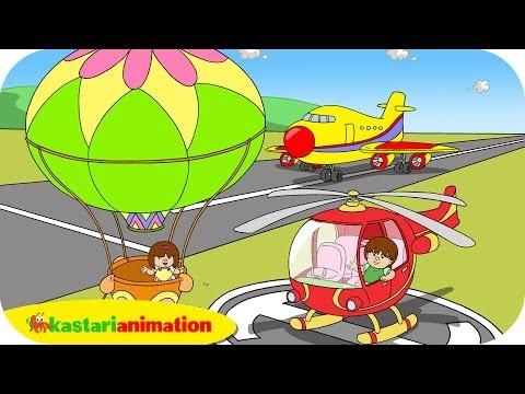 Kutahu Nama Kendaraan (balon udara, helikopter, pesawat terbang) - Kastari Animation Official