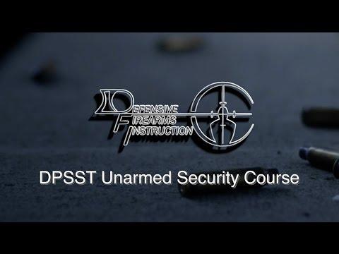 Oregon DPSST Unarmed Security Course ⋆ Defensive Firearms Instruction