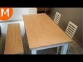 How I made Dining table and bench?