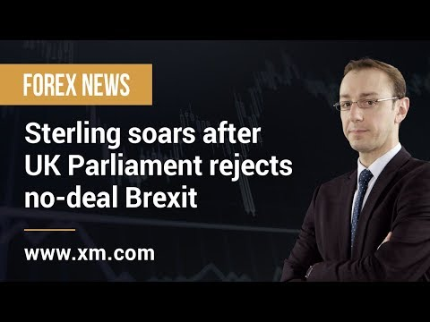 Forex News: 14/03/2019 - Sterling soars after UK Parliament rejects no-deal Brexit