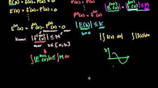 証明:テイラー多項式近似の誤差(剰余項)の範囲