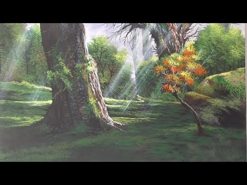 Acrylic Landscape Painting Lesson-Hide and seek