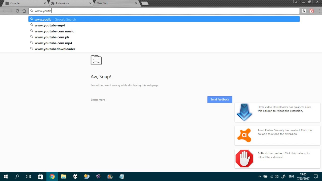 Weird Google Chrome Glitch