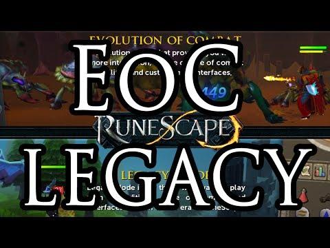 Legacy vs EoC? Runescape Combat Beta