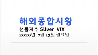 긴급해외종합시황 [danger c파동]달러인덱스 S&P500선물 나스닥선물 VIX SLV WTI