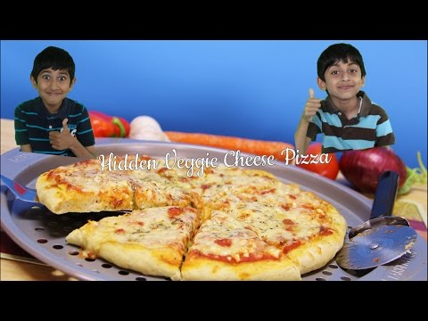 How to make your kids eat their veggies – Hidden Veggie Cheese Pizza Video Recipe