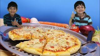 How to make your kids eat their veggies - Hidden Veggie Cheese Pizza Video Recipe