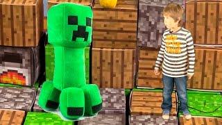 Игрушки Майнкрафт Выживание в реальном мире. Minecraft Крипер