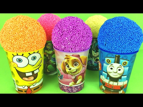 Learn Colors Play Foam Surprise Toys PAW Patrol Thomas and Friends Spongebob SquarePants