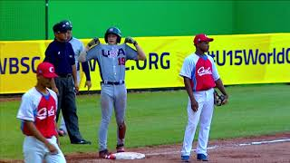 Highlights: USA v Cuba - U-15 Baseball World Cup 2018