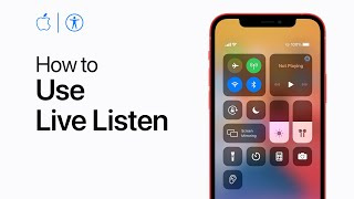 How to use Lİve Listen — Apple Support