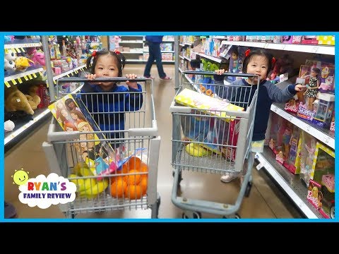 Kids Grocery Shopping Trip with Kid Size Shopping Cart!