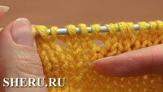 Как при вязании спицами выполнить прибавление петель за счет накидов. Урок 8.7