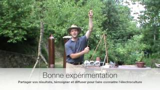 Repeat youtube video Electroculture Antenne type paratonnerre ou antenne atmosphérique terro celeste