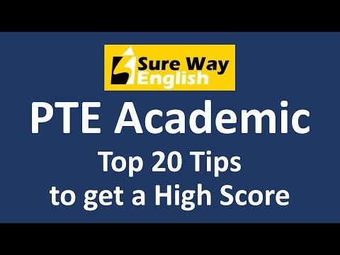 PTE Tips - Top 20 Tips to Get a High Score - Must Watch