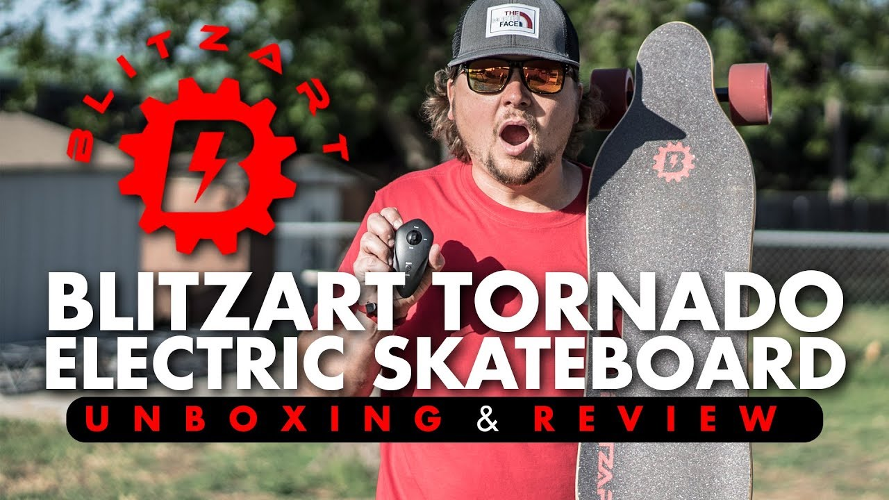 BLITZART TORNADO Electric Skateboard! (Unboxing & Review)