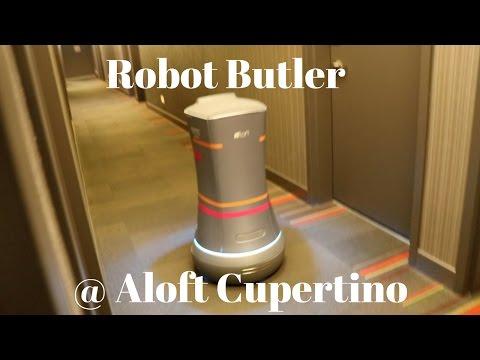 Botlr delivering towels @ Aloft Cupertino