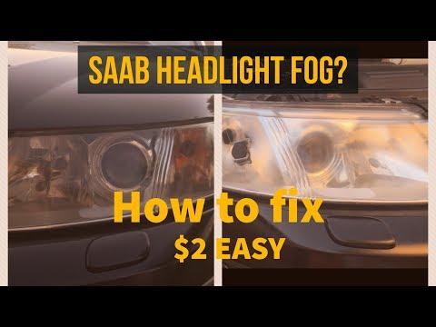 FIX FOGGY SAAB HEADLIGHTS