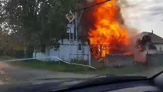 В Верхней Салде вспыхнул частный дом, 03.09.2018
