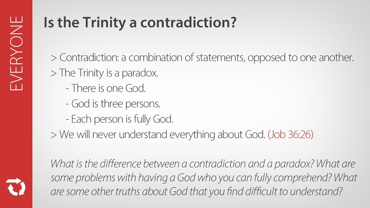 Is the Trinity a Contradiction? | pursueGOD org