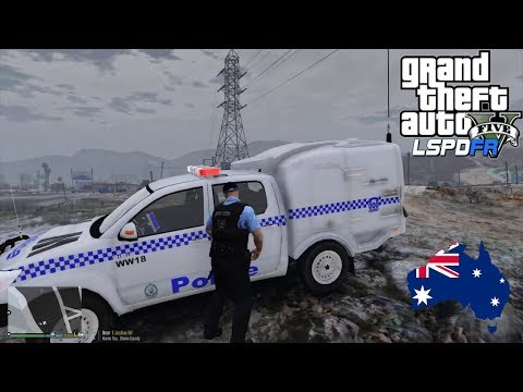 GTA 5 - LSPDFR Australia - Sandy Shores / Route 68 Patrol - Toyota Hilux Paddy Wagon