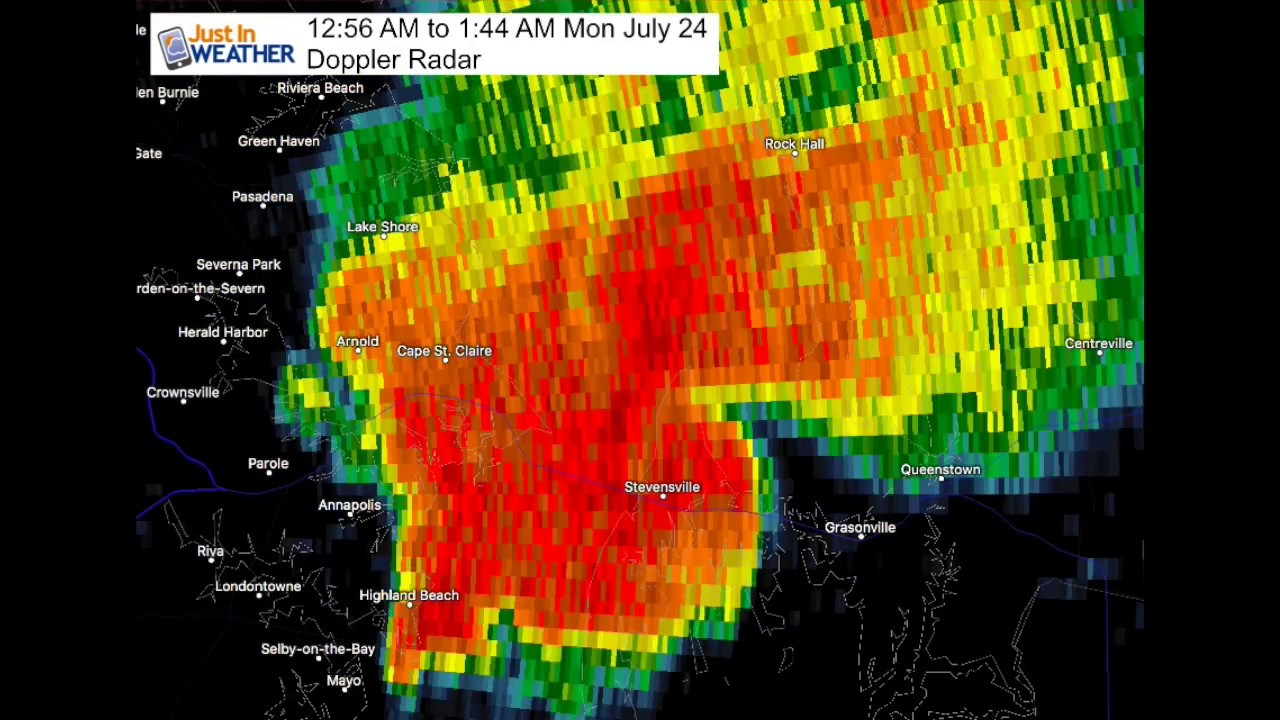 Tornado Radar Kent Island July 24