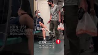 Guy got caught trying to video a couple of ladies inside MRT train