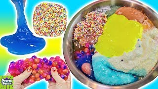 Mixing ALL of My Slime! Huge Slime Smoothie Bowl!! Doctor Squish
