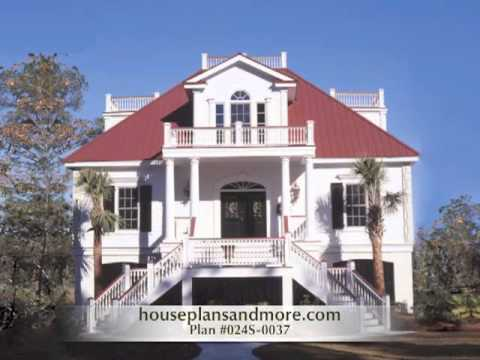 Homes with outdoor balconies video house plans and more for Home designs video