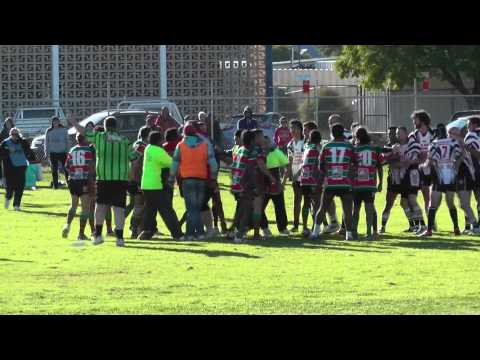 Punch UP - Broken Hill Rugby League Saints V's Wilcannia Boomerangs Fight 15/06/2013