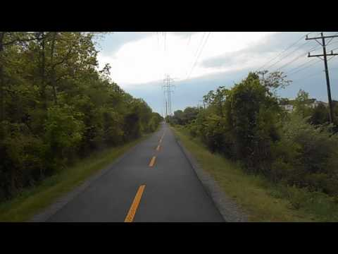 Riding along the W&OD trail towards DC from Leesburg, VA