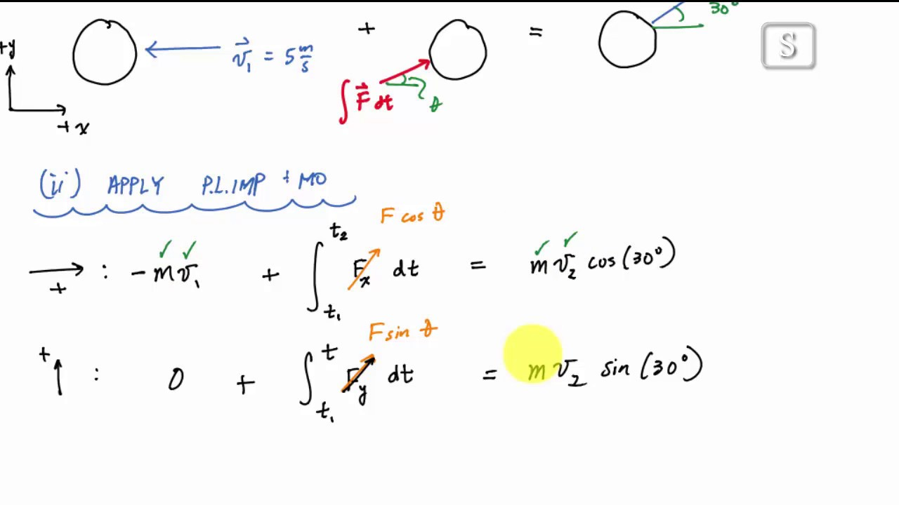 Linear Impulse And Momentum Example 1 Engineering Dynamics Youtube