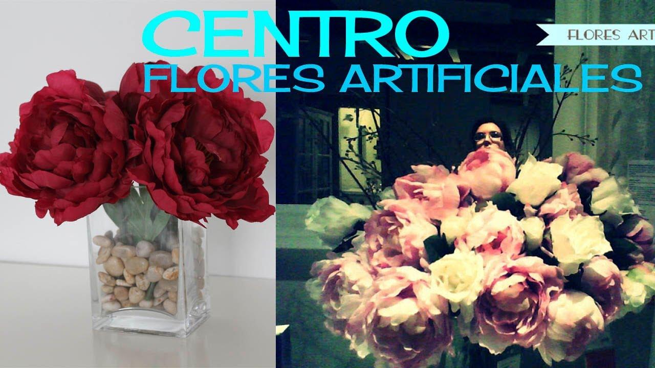 Centro flores artificiales  YouTube