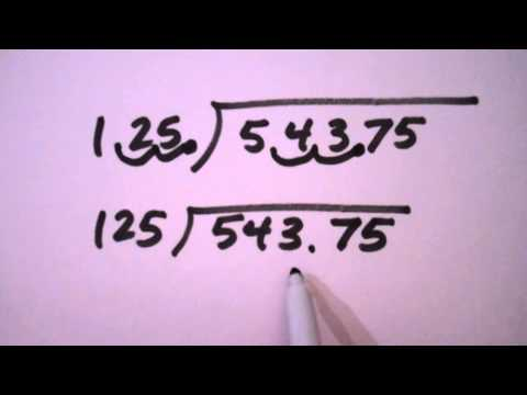 Mr. Premus Math Refresher - How to do Long Division with Decimals