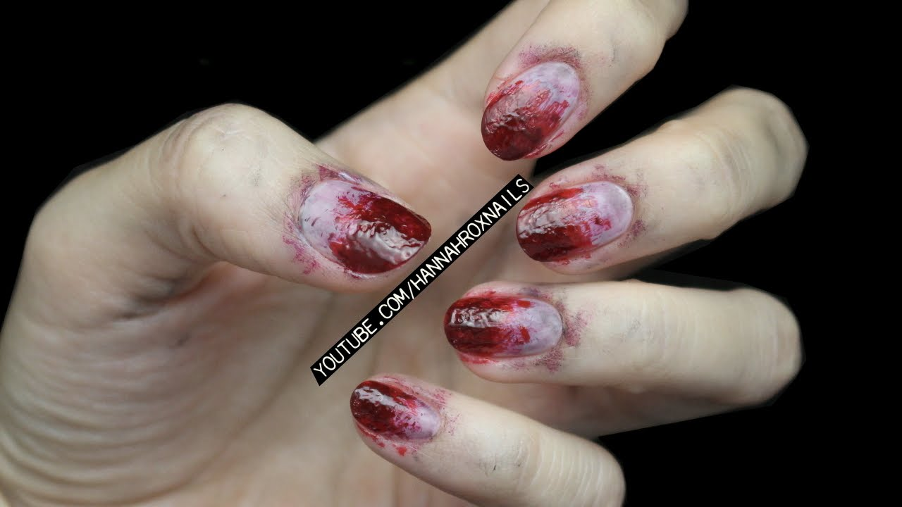 - The Walking Dead Inspired Zombie Nails (for Halloween!) - YouTube