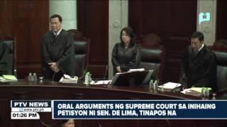 Oral arguments ng Supreme Court sa inihaing petisyon ni Sen. De Lima, tinapos na