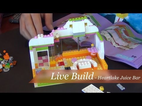 Live Build - Lego Friends Heartlake Juice Bar Set #41035