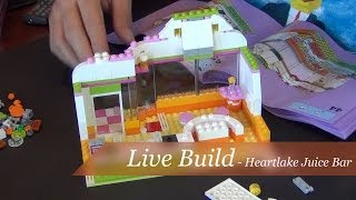 Live Build - Lego Friends Heartlake Juice Bar Set #41035