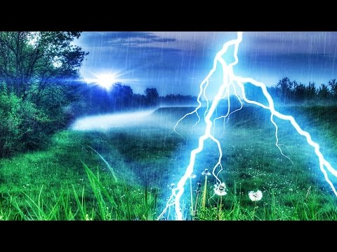 THUNDER & RAIN | Peaceful Nature Sounds For Focus, Relaxatio