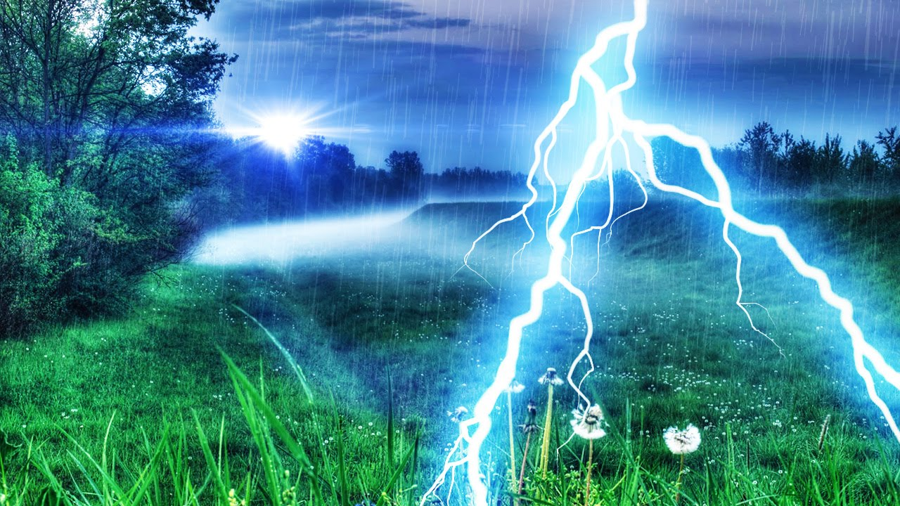 thunder rain peaceful nature sounds for focus relaxation or