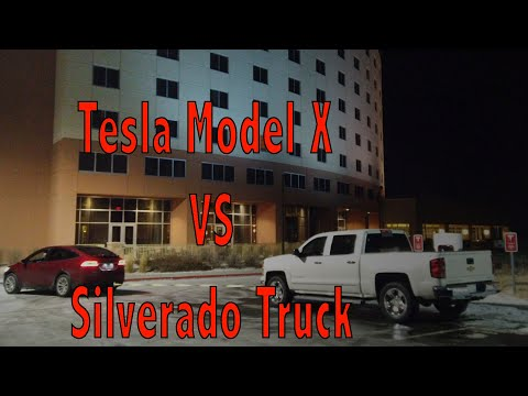 Cort Webber - Tesla driver tows a pickup blocking the charging station