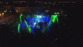 Видео с дрона: шикарное лазер-шоу на Дне письменности в Полоцке