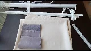 Римская штора своими руками(легко и просто).