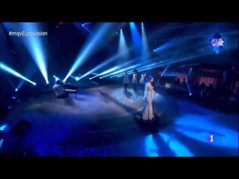 Ruth Lorenzo ''Dancing in the rain'' Live Eurovisión 2014 Spain