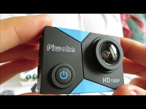 Piwoka Action Camera - Unboxing and Video Test (Cheap Action Camera)