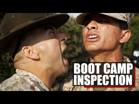 Marine Boot Camp | Company Inspection