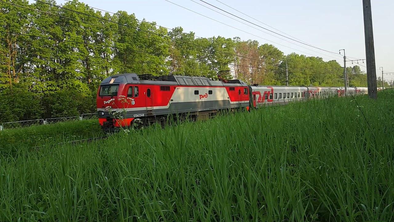 Электровоз ЭП2К-222 с поездом Санкт-Петербург-Московский - Москва-ленинградская